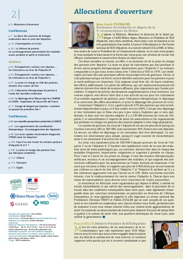 2011 lyon-actes forum sos hepatites Slide 2
