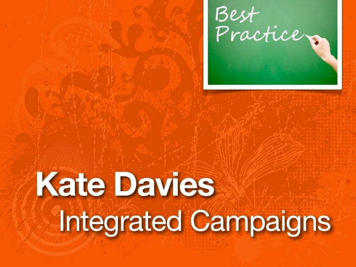Kate Davies Integrated Campaigns