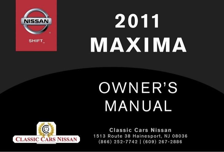 2011 maxima owner's manual 2013 maxima 2011 ma x i ma owner's manualfor