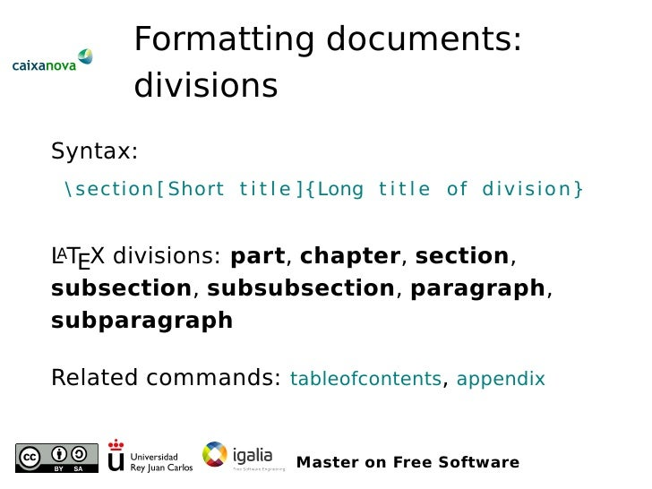 Editing documents with LaTeX