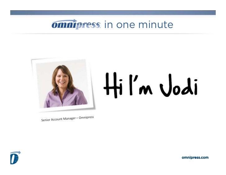 in one minute                omnipress.com