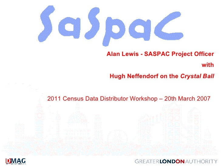 Alan Lewis - SASPAC Project Officer with Hugh Neffendorf on the  Crystal Ball 2011 Census Data Distributor Workshop – 20th...
