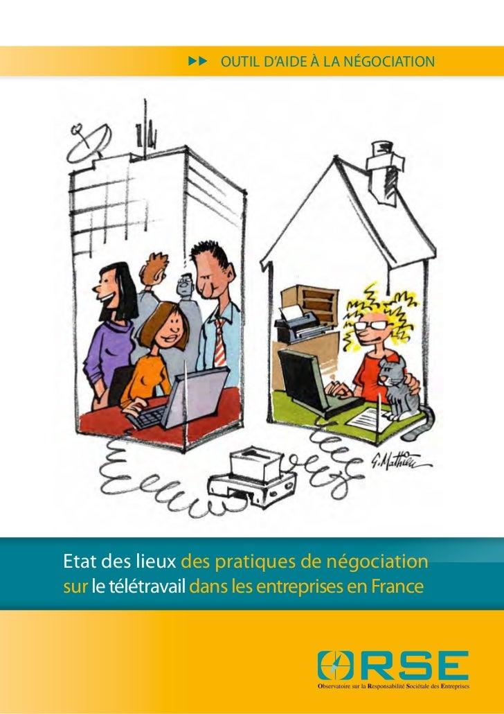 uu   OUTIL D'AIDE À LA NÉGOCIATIONEtat des lieux des pratiques de négociationsur le télétravail dans les entreprises en Fr...