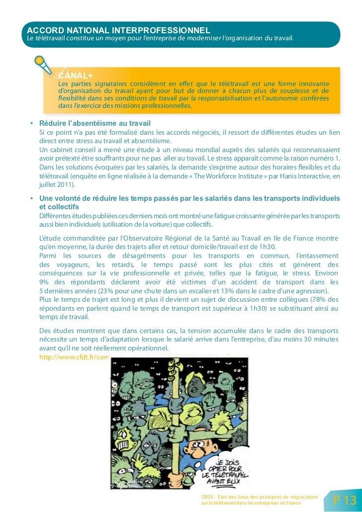 Certaines entreprises (exemple de UAT GSO citée en annexe) vont même jusqu'à négocier des           accords pour définir «...