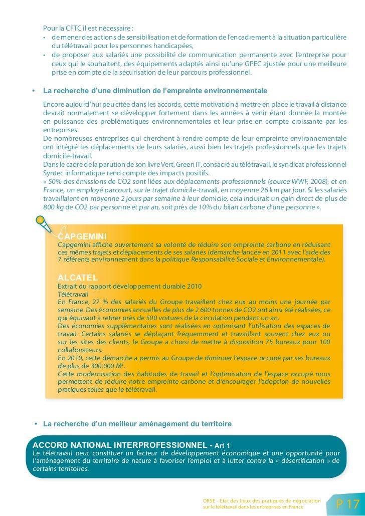 4. OÙ S'EFFECTUE LE TÉLÉTRAVAIL : RÉSIDENCE PRINCIPALE/ RÉSIDENCE SECONDAIRE ?        Il a été précisé plus haut que pour ...