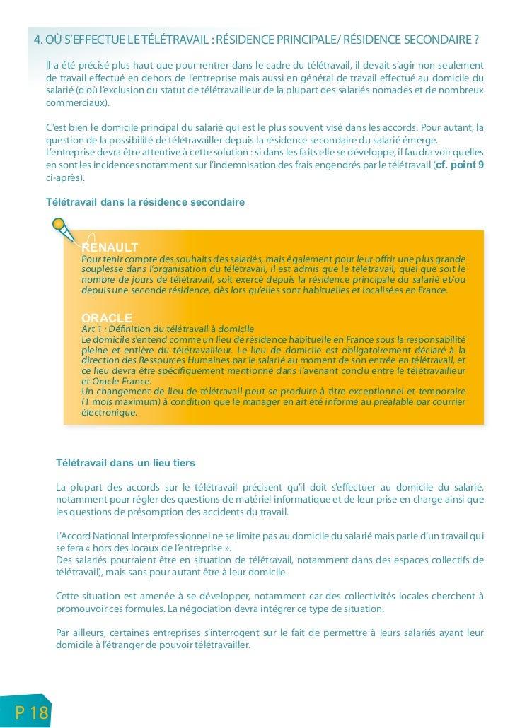 ORSE - Etat des lieux des pratiques de négociationsur le télétravail dans les entreprises en France    P 19