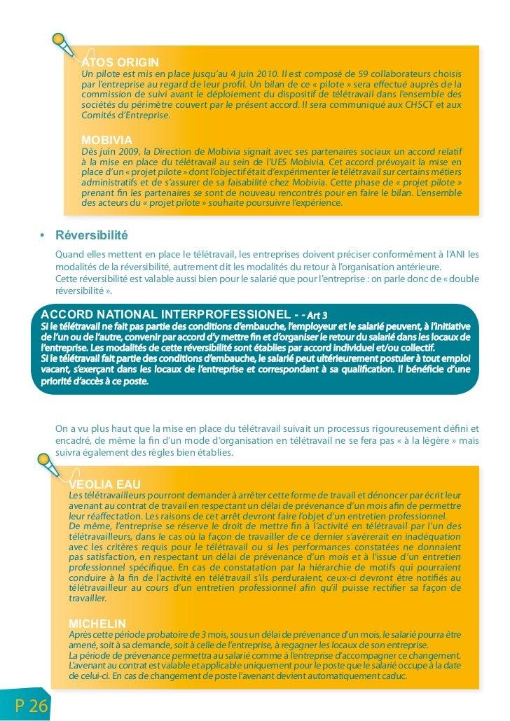 Les entreprises auront à définir les conditions de renouvellement du contrat de travail en télétravail :• à l'issue de la...