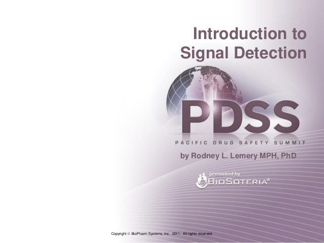 Introduction to                                         Signal Detection                                         by Rodney...