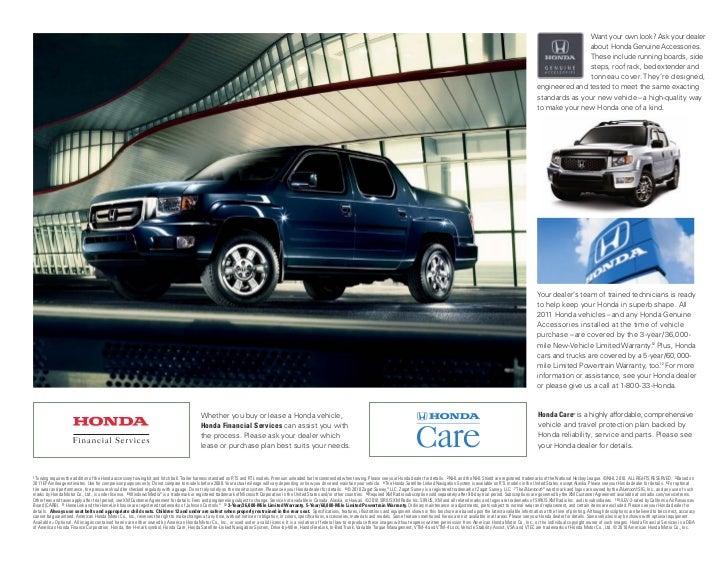 Neil Huffman Honda >> 2011 Honda Ridgeline Brochure by Neil Huffman Honda Louisville KY - C…