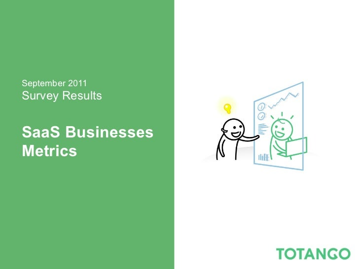 September 2011Survey ResultsSaaS BusinessesMetrics