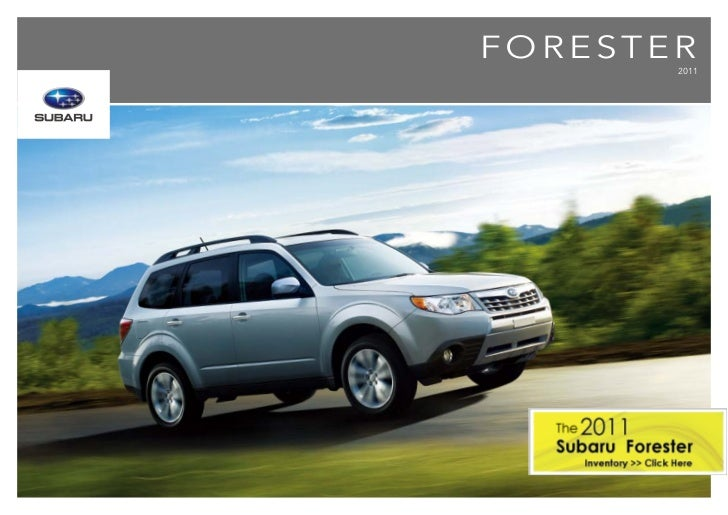 2011 Subaru Forester in Alberta | Brochure | Subaru of
