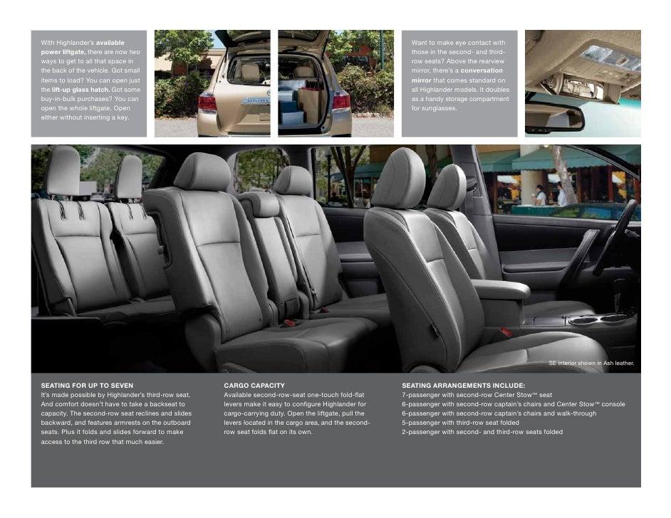 Toyota Highlander Cargo Space >> 2011 Toyota Highlander Hybrid Arlington