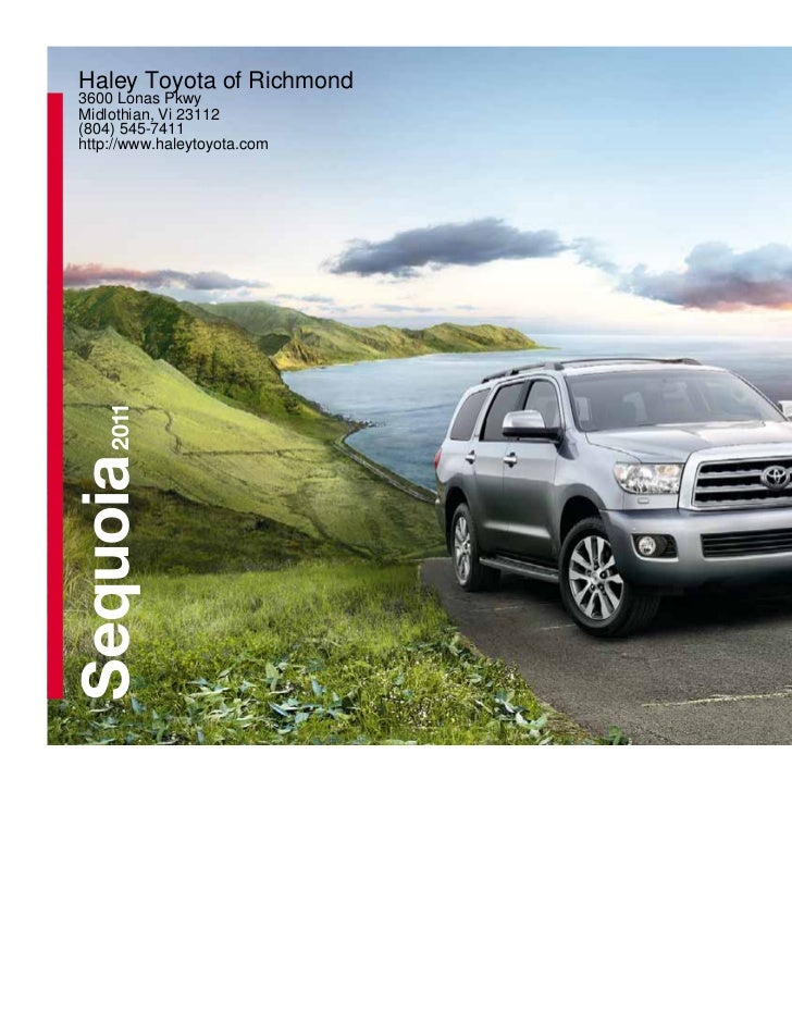 Haley Toyota Of Richmond3600 Lonas PkwyMidlothian, Vi 23112(804)  545 7411http: ...