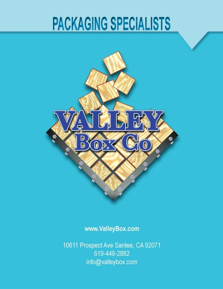 Products & Services for Valley Box