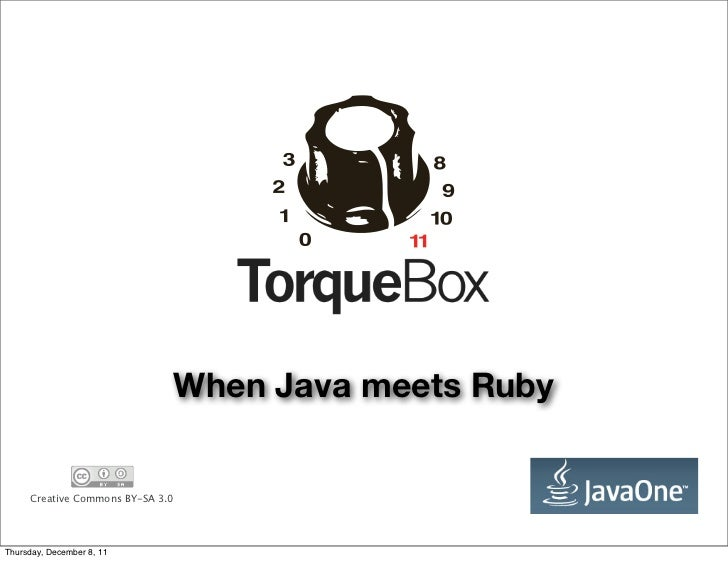 When Java meets Ruby     Creative Commons BY-SA 3.0Thursday, December 8, 11