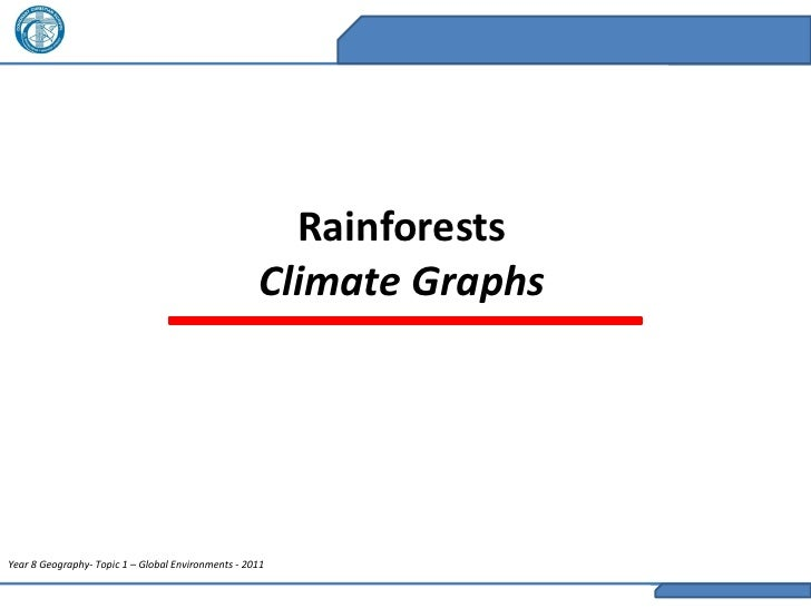 Rainforests                                                    Climate GraphsYear 8 Geography- Topic 1 – Global Environmen...