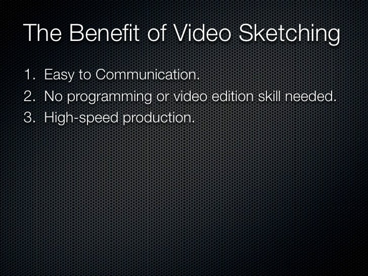 Sketching User Experience—Video Sketching