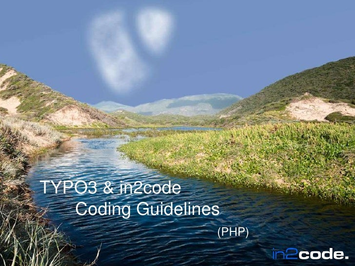 TYPO3 & in2code CodingGuidelines(PHP)<br />