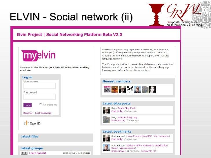 ELVIN - Social network (ii) http://grial.usal.es
