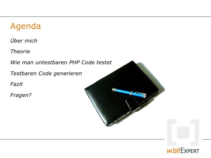 Testing untestable code - PHPUGFFM 01/11 Slide 2