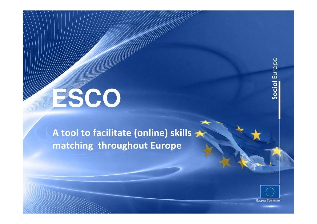 ESCOA tool to facilitate (online) skillsmatching throughout Europe