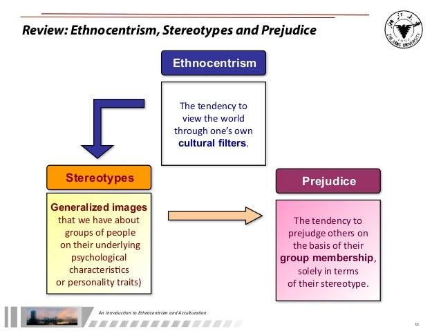 prejudice vs ethnocentrism They include prejudice,  prejudice, discrimination, ethnocentrism and cultural relativism april 3,  ethnocentrism.
