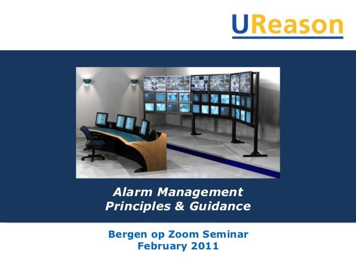 Alarm Management Principles & Guidance