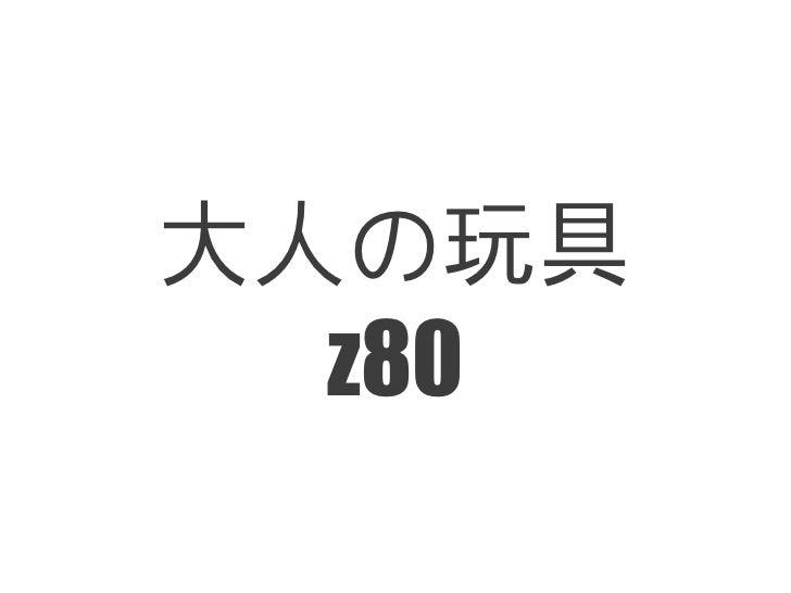 大人の玩具  z80