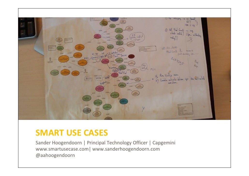SMART USE CASESSander Hoogendoorn | Principal Technology Officer | Capgeminiwww.smartusecase.com| www.sanderhoogendoorn.co...