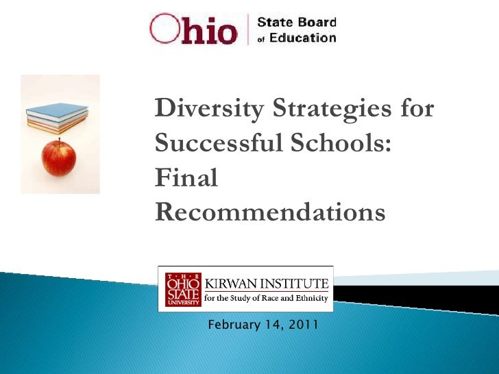 Diversity Strategies forSuccessful Schools:FinalRecommendations    February 14, 2011