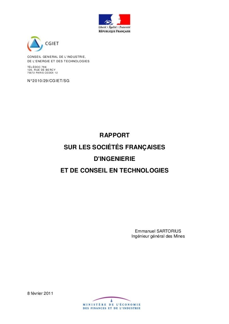 CONSEIL GENERAL DE LINDUSTRIE,DE LENERGIE ET DES TECHNOLOGIESTÉLÉDOC 796120, RUE DE BE RC Y7 5 5 7 2 PARI S CEDEX 1 2N° 20...
