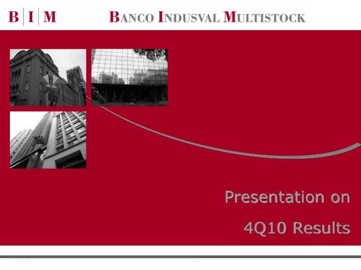 Presentation on  4Q10 Results              0