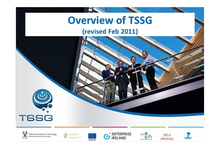 Overview	  of	  TSSG   (revised	  Feb	  2011)