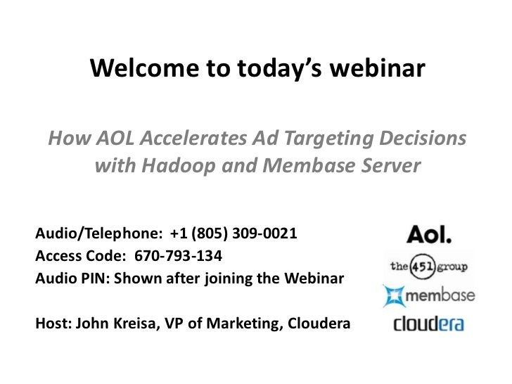 Webinar: How AOL Accelerates Targeting Decisions with Hadoop and Membase Server