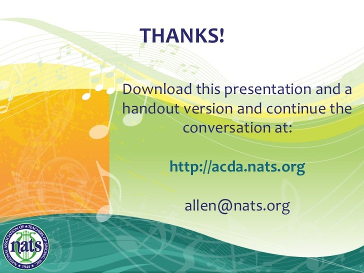 Top Ten Complaints Presented By Nats At Acda