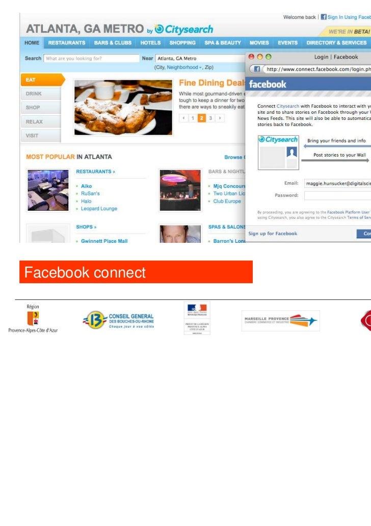 Exemple: en 2009, Levi's lanceFriends Store avec Facebookconnect