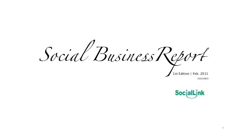 "Social BusinessRepo""                1st Edition | Feb. 2011                                20110303"