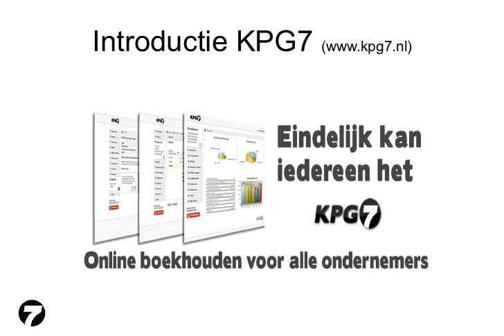 Introductie KPG7  (www.kpg7.nl)