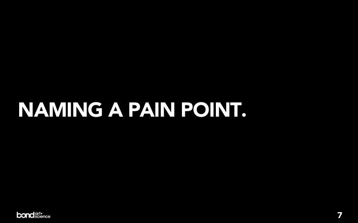 NAMING A PAIN POINT.                       7