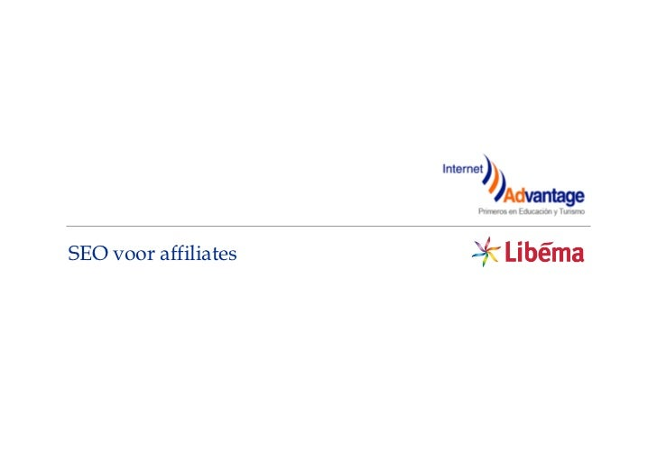 SEO voor affiliates