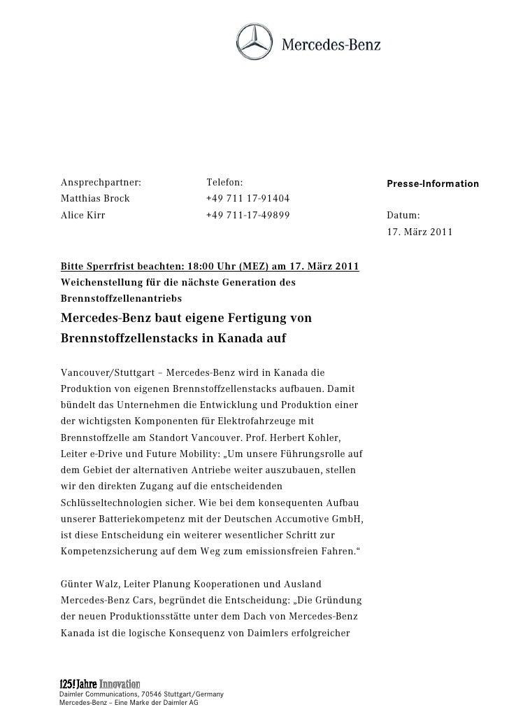 Ansprechpartner:                         Telefon:                  Presse-InformationMatthias Brock                       ...