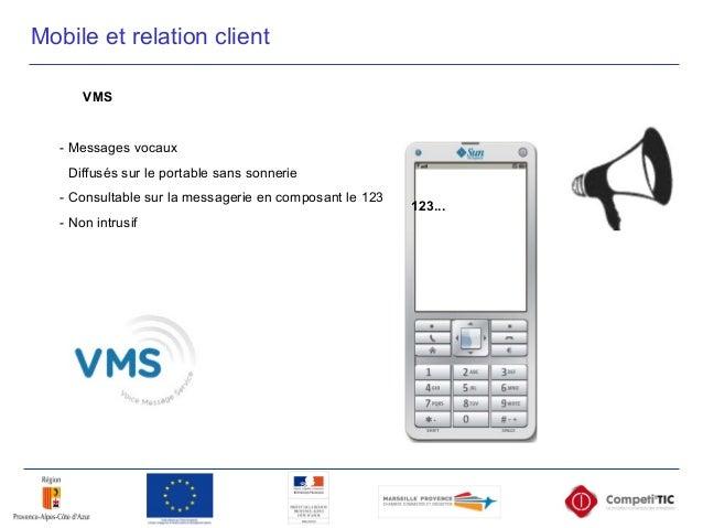 Mobile et relation client VMS - Messages vocaux - Diffusés sur le portable sans sonnerie - Consultable sur la messagerie e...