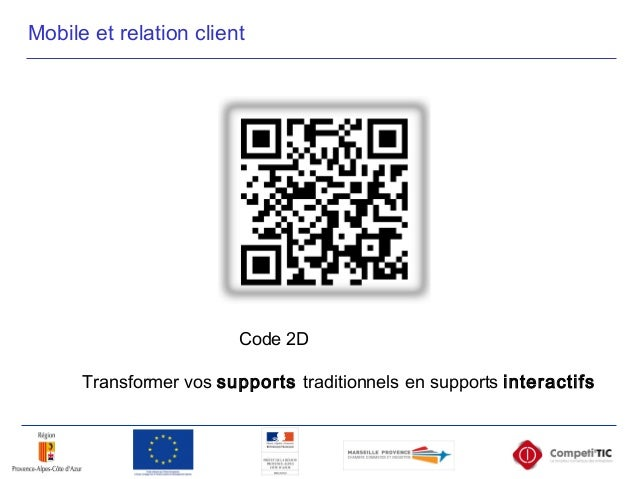 Code 2D Transformer vos supports traditionnels en supports interactifs Mobile et relation client