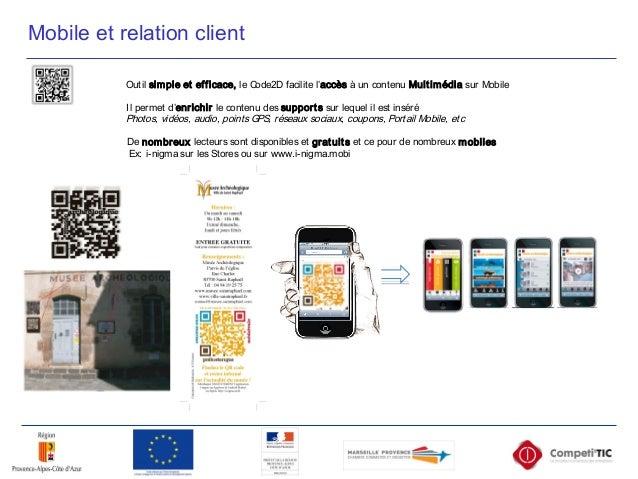 Mobile et relation client Outil simple et efficace, le Code2D facilite l'accès à un contenu Multimédia sur Mobile Il perme...