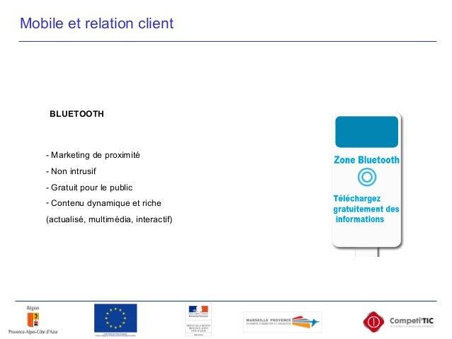 - Marketing de proximité - Non intrusif - Gratuit pour le public - Contenu dynamique et riche (actualisé, multimédia, inte...