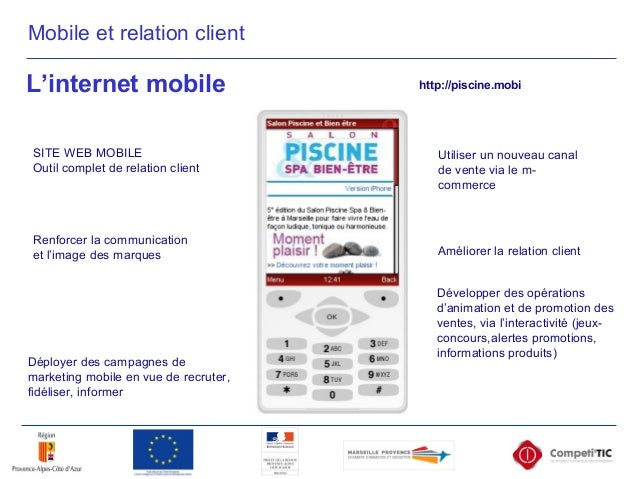 http://piscine.mobi L'internet mobile http://piscine.mobi SITE WEB MOBILE Outil complet de relation client Développer des ...