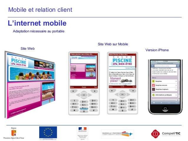 Site Web Site Web sur Mobile Version iPhone Adaptation nécessaire au portable L'internet mobile Mobile et relation client