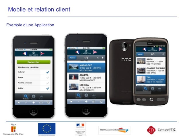 Exemple d'une Application Mobile et relation client