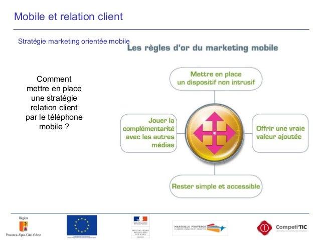 Comment mettre en place une stratégie relation client par le téléphone mobile ? Mobile et relation client Stratégie market...