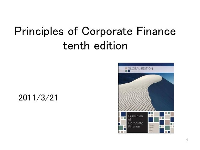 1 Principles of Corporate Finance tenth edition	 2011/3/21